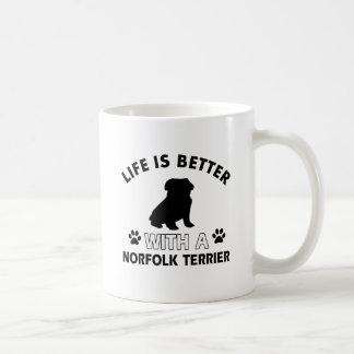 ノーフォークテリアのデザイン コーヒーマグカップ