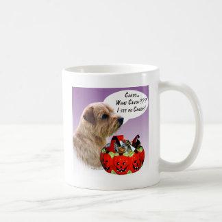 ノーフォークテリアのハロウィンキャンデー コーヒーマグカップ