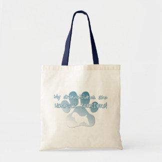 ノーフォークテリアの孫のバッグ トートバッグ