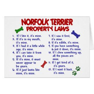 ノーフォークテリアの特性の法律2 カード