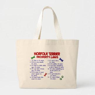ノーフォークテリアの特性の法律2 ラージトートバッグ