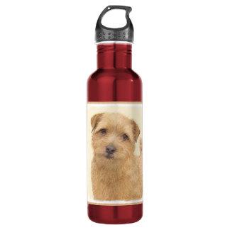 ノーフォークテリアの絵画-かわいい元の犬の芸術 ウォーターボトル