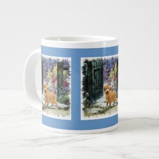 ノーフォークテリアの芸術のギフト ジャンボコーヒーマグカップ