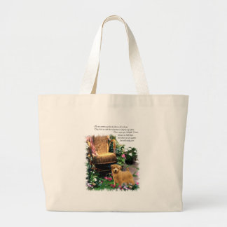 ノーフォークテリアの芸術のギフト ラージトートバッグ