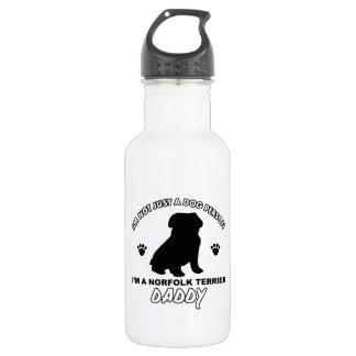 ノーフォークテリア犬のお父さんのデザイン ウォーターボトル