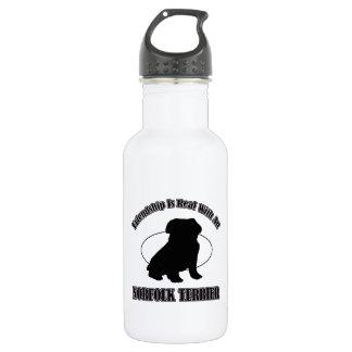 ノーフォークテリア犬のデザイン ウォーターボトル