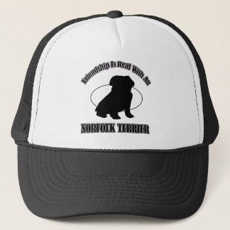 ノーフォークテリア犬のデザイン キャップ