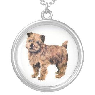 ノーフォークテリア犬のネックレス シルバープレートネックレス