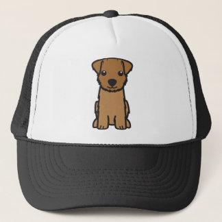 ノーフォークテリア犬の漫画 キャップ
