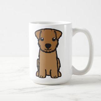 ノーフォークテリア犬の漫画 コーヒーマグカップ