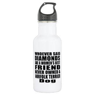 ノーフォークテリア犬の親友のデザイン ウォーターボトル