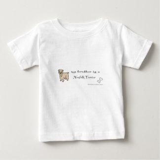 ノーフォークテリア-多くは繁殖します ベビーTシャツ