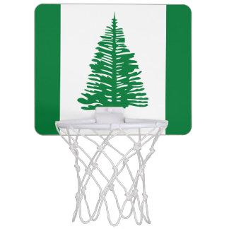 ノーフォーク島の小型バスケットボールのゴールの旗 ミニバスケットボールゴール