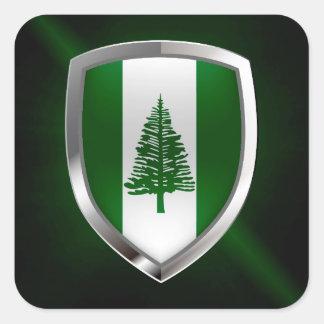 ノーフォーク島の金属紋章 スクエアシール