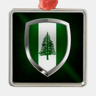 ノーフォーク島の金属紋章 メタルオーナメント