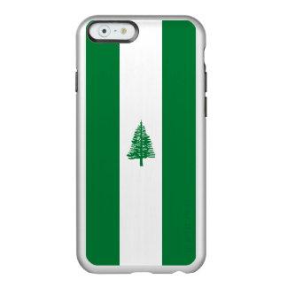 ノーフォーク島の銀のiPhoneの場合の旗 Incipio Feather Shine iPhone 6ケース