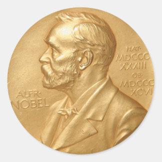 ノーベル賞のステッカー ラウンドシール