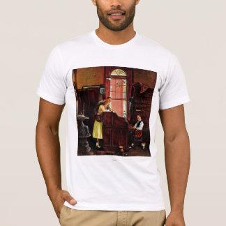 ノーマン・ロックウェル著結婚許可証 Tシャツ