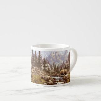 ハイイログマの景色のエスプレッソのコップ エスプレッソカップ