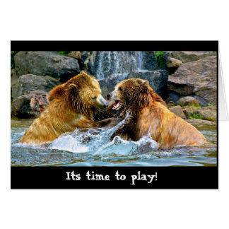 ハイイログマのplaytime カード