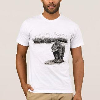ハイイログマは石のTシャツに関係します Tシャツ