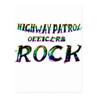ハイウェーの巡査の石色 ポストカード