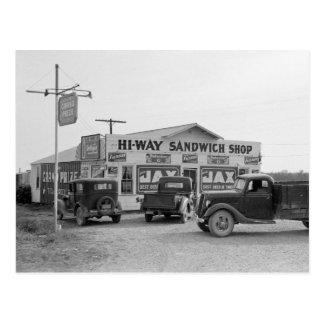 ハイウェーサンドイッチ店1939年 ポストカード