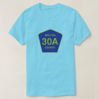ハイウェー30Aの印のWalton郡フロリダのワイシャツ Tシャツ