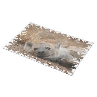 ハイエナの写真のランチョンマット ランチョンマット