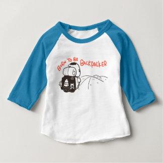 ハイカーがあるために生まれて下さい ベビーTシャツ
