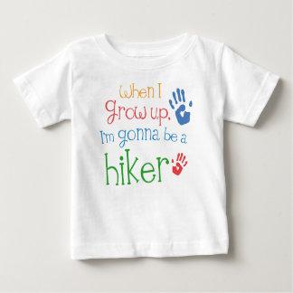 ハイカー(未来)の幼児ベビーのTシャツ ベビーTシャツ
