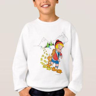 ハイキングしているRichieの金持ち-色 スウェットシャツ