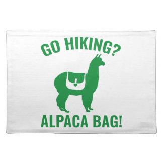 ハイキングすることを行って下さいか。 アルパカのバッグ! ランチョンマット