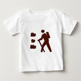 ハイキングにのように ベビーTシャツ