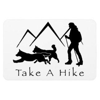 ハイキングに磁石ドイツの羊飼いかハスキーを取って下さい マグネット