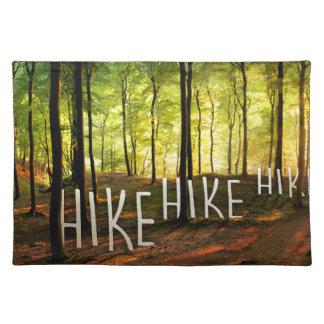ハイキングのハイキングのハイキング ランチョンマット
