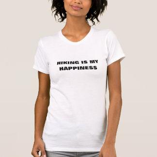 ハイキングは私の幸福です Tシャツ