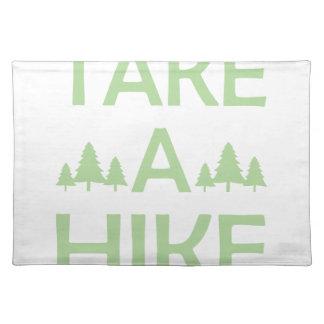 ハイキングを取って下さい ランチョンマット