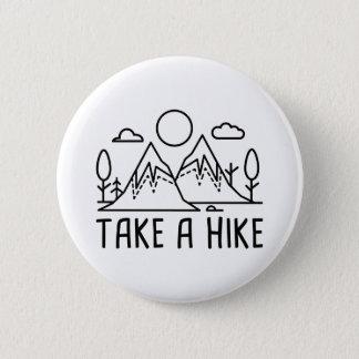 ハイキングを取って下さい 缶バッジ