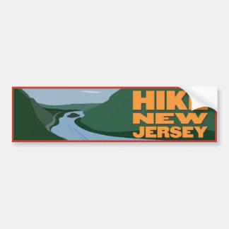ハイキングニュージャージー-ステッカー バンパーステッカー