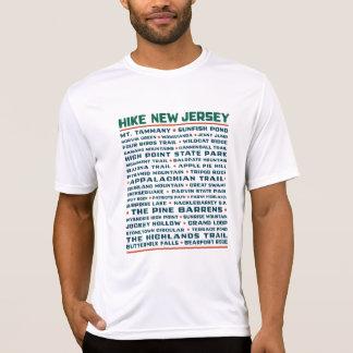 ハイキングニュージャージー(道) - Wicking Tシャツ