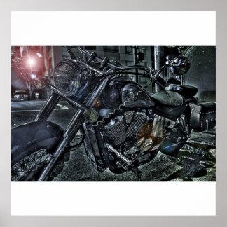 ハイコントラストのバイク ポスター