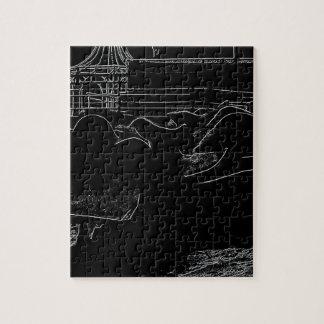 ハイコントラストの砂のドラゴン ジグソーパズル