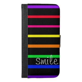 ハイコントラストの電話箱の虹 iPhone 6/6S PLUS ウォレットケース