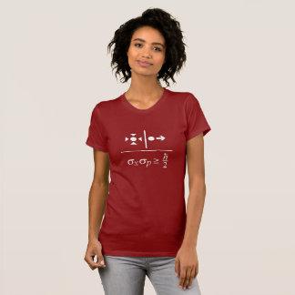 ハイゼンベルクの不確定性原理 Tシャツ