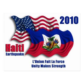 ハイチのためのハイチ人及びアメリカの振る旗 ポストカード