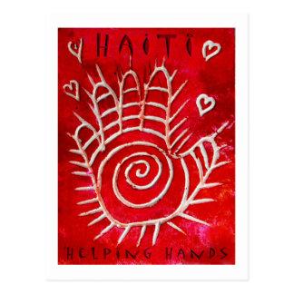 ハイチのための手の救済 ポストカード