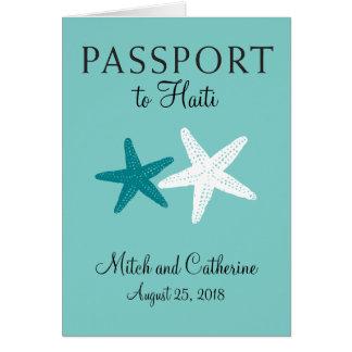 ハイチのヒトデの結婚式のパスポート ノートカード