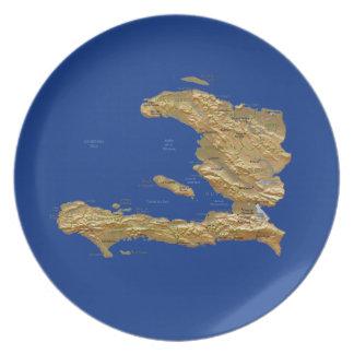 ハイチの地図のプレート プレート