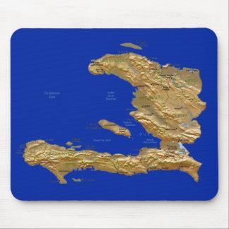 ハイチの地図のマウスパッド マウスパッド